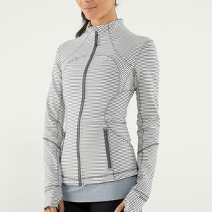 Lululemon Forme Jacket  Hyper Stripe Angel Wing 10